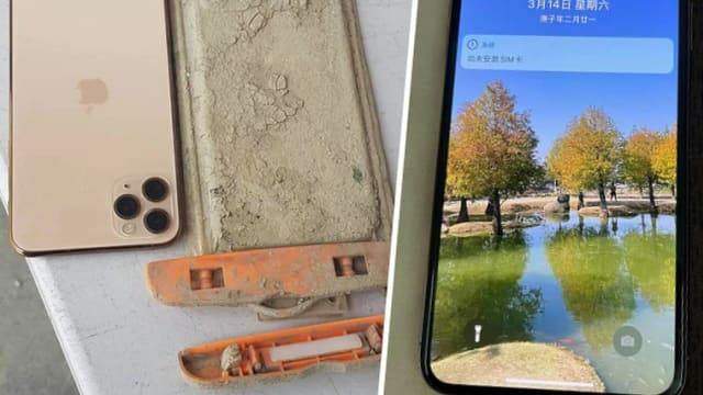 台湾日月潭干涸见底 手机一年前掉落捡回还能用
