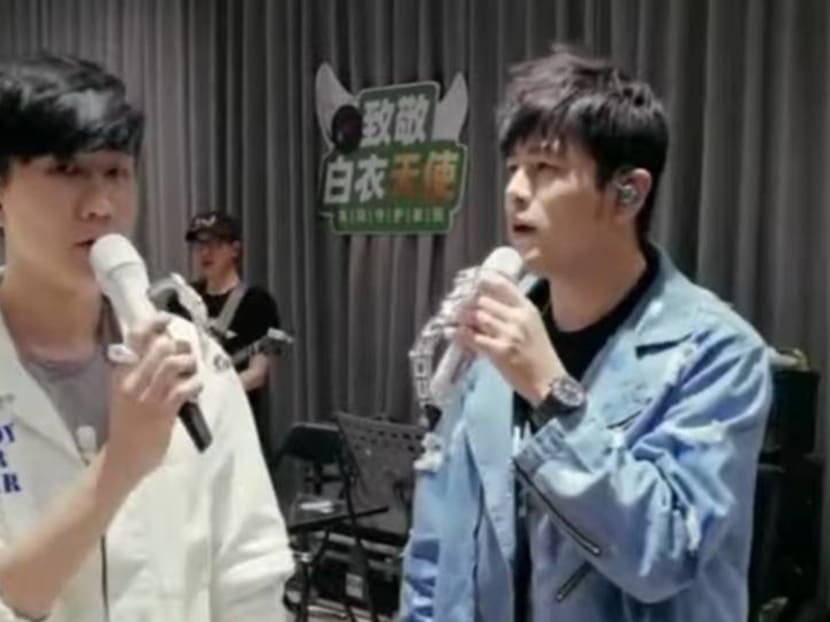 Watch JJ Lin's surprise performance with Jay Chou for an online fundraising show