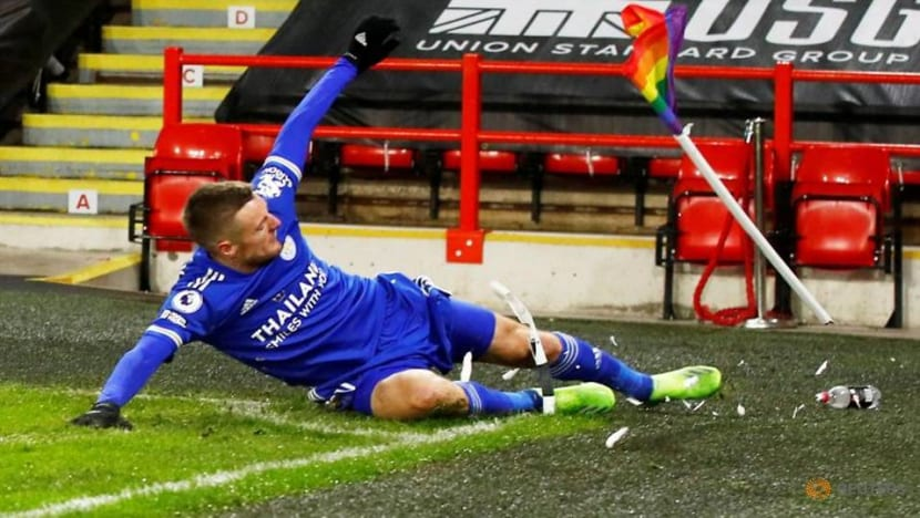 Football: Leicester's Vardy one of the best strikers in Europe, says Rodgers