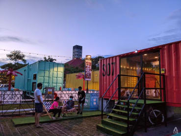 What's it like to stay at the new container hotel at Downtown East's car park?
