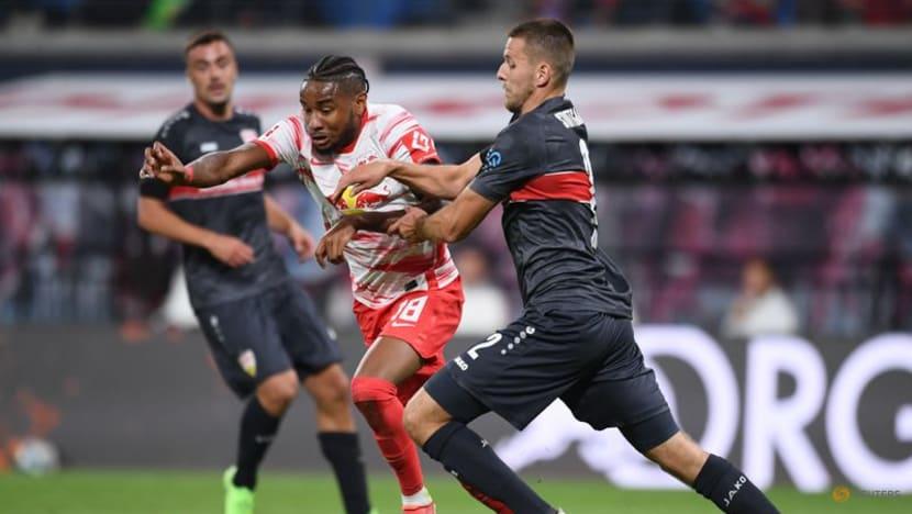 Football: Szoboszlai on the double as RB Leipzig thump Stuttgart 4-0