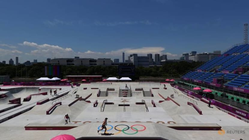 Olympics-Surfing-Laid-back lifestyle comes to Olympic village with surfers, skateboarders
