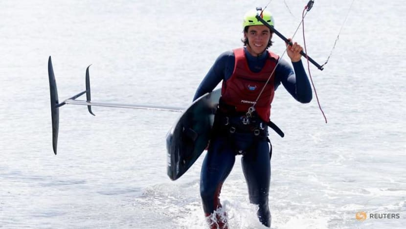 Olympics-France's Mazella ready for kitefoil lift-off at Paris Games