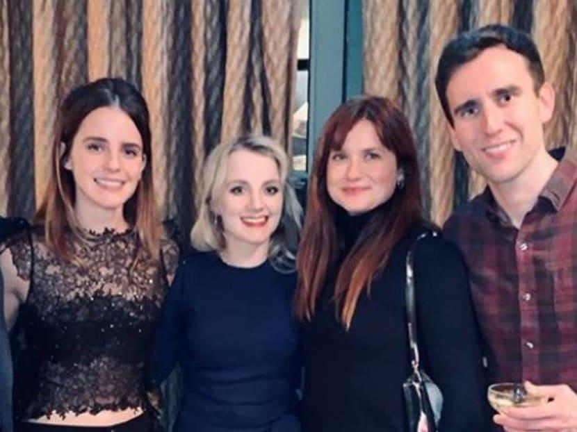 Emma Watson has a Harry Potter Christmas reunion with Hogwarts friends
