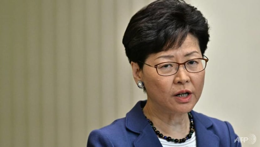 Hong Kong leader calls extradition law protests an 'organised riot'