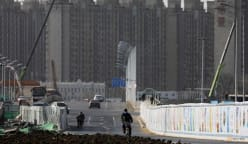 China's new construction starts plunge as chill spreads across sector