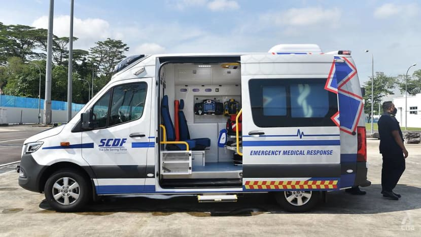 SCDF to roll out new ambulance that can self-decontaminate and automatically load stretcher