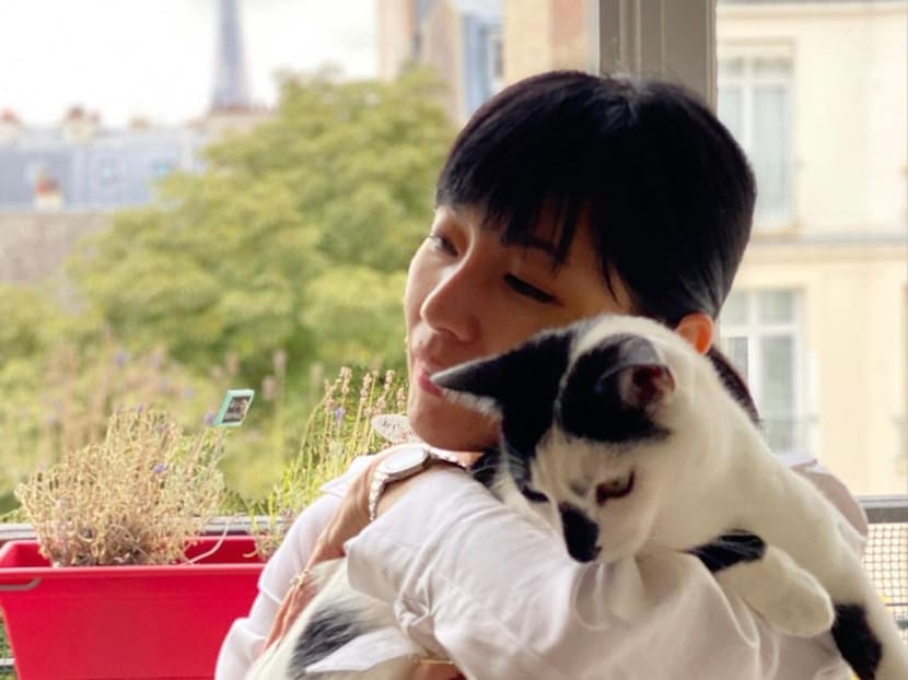 Sharon Au returns to Paris and reunites with her cat after 12 weeks in Singapore