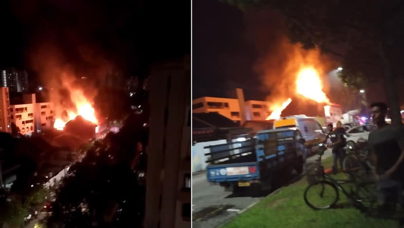 Fire breaks out at 2 shophouses in Geylang
