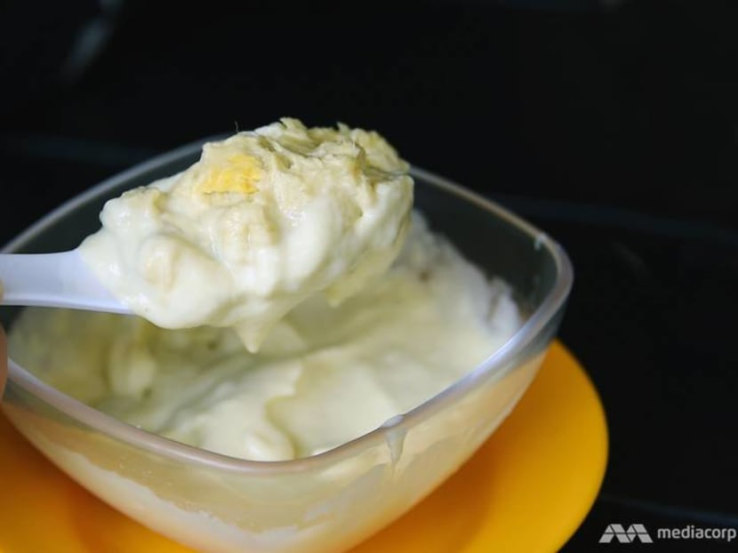 Best eats: Durian mousse with scoops of D24 flesh at Serangoon Gardens
