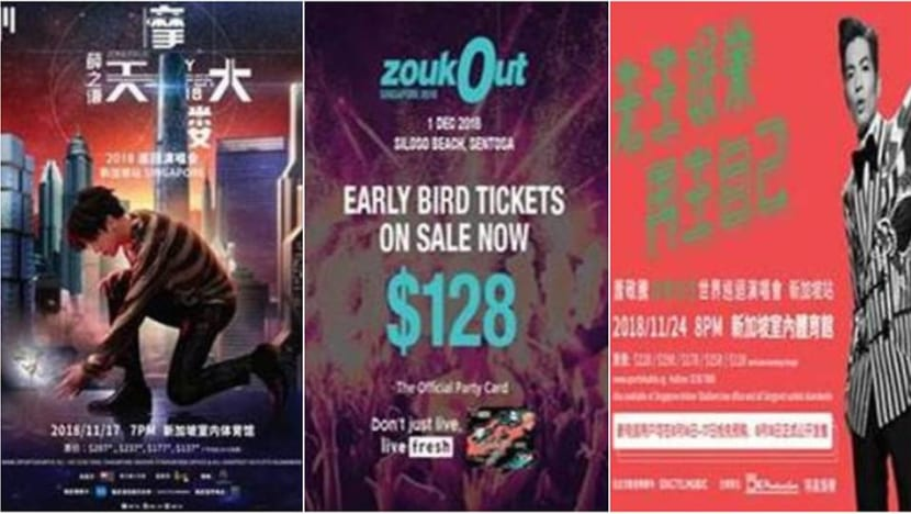 20-year-old arrested over scams involving ZoukOut, concert tickets