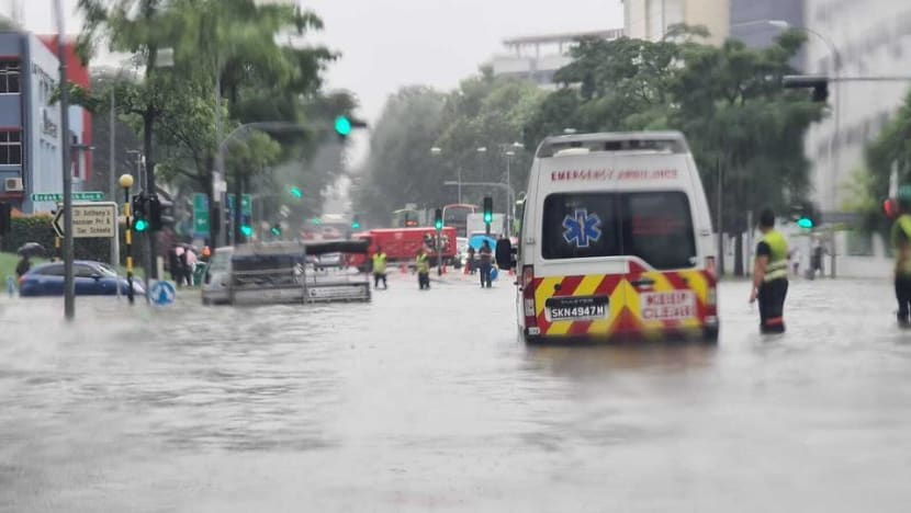Flash floods reported in parts of Singapore after heavy rain
