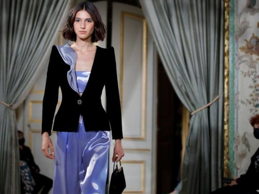 Armani dazzles with ruffles and elegance in Paris couture show
