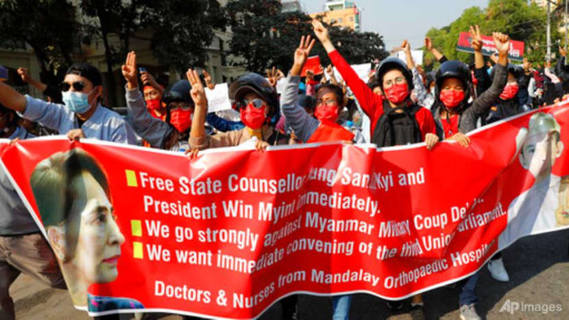 Martial law declared in parts of Myanmar as rallies heap pressure on coup leaders