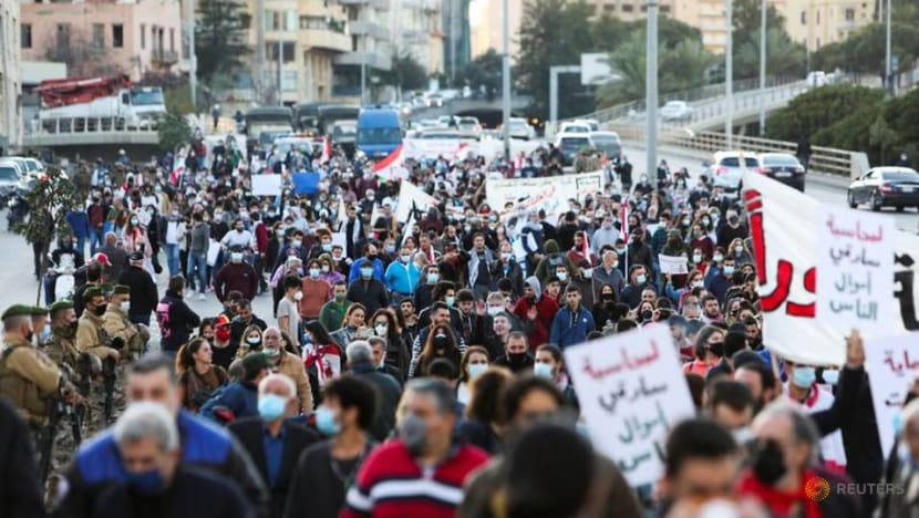 Thousands march in central Beirut as political deadlock persists