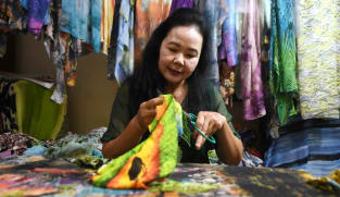 'Just me and the fabric': Vietnam artist finds success with cloth creations