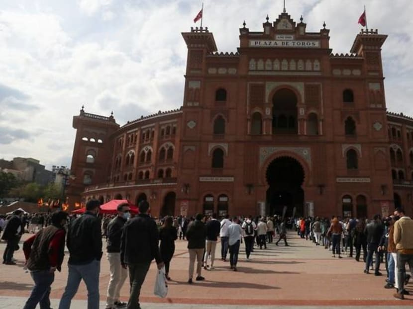 Spanish aficionados return to Madrid bullring for first time since pandemic