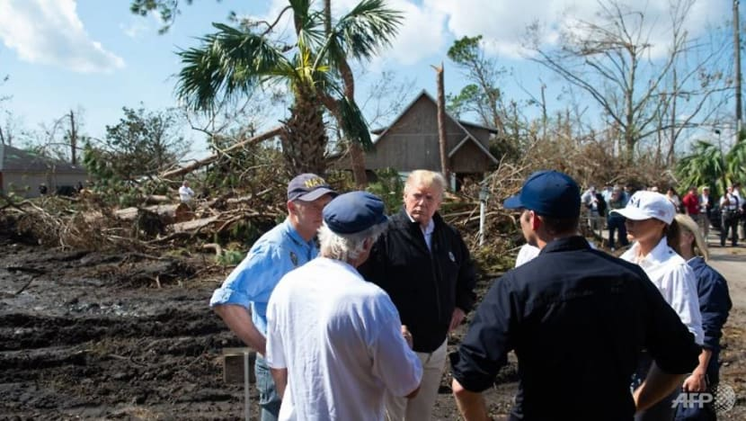 Climate change? It comes and goes, Trump says