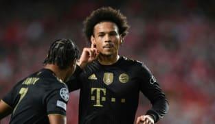 Sane strikes twice as spotless Bayern sink Benfica
