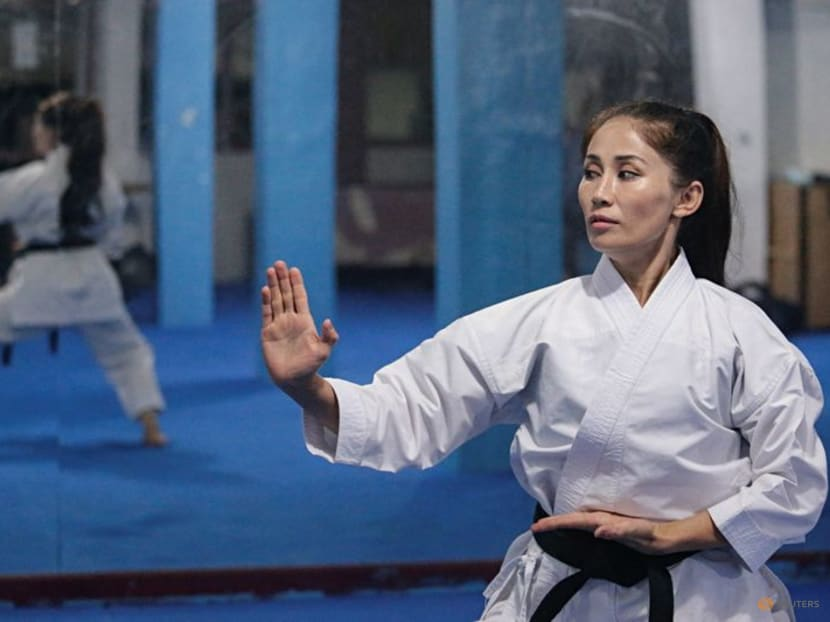 Afghan karate champion fears it's game over for female athletes after Taliban takeover