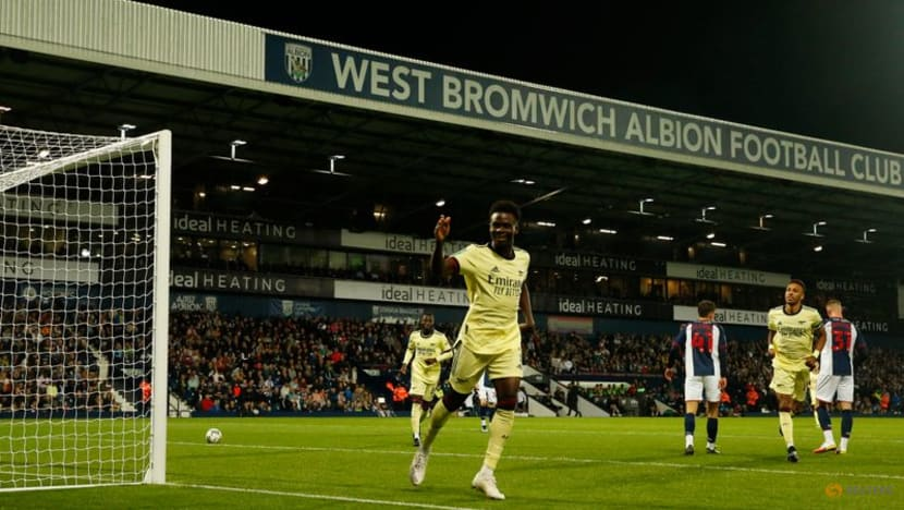 Football: Aubameyang grabs a hat-trick as Arsenal hit West Brom for six