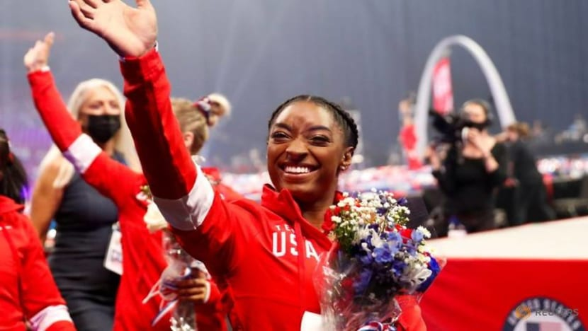 Gymnastics-Biles leads band of Olympic newcomers to Tokyo