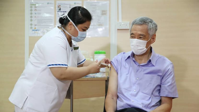 PM Lee Hsien Loong receives first dose of Pfizer-BioNTech COVID-19 vaccine