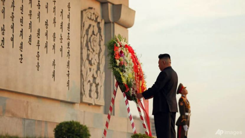 North Korea leader pays respect to Chinese war dead at memorial