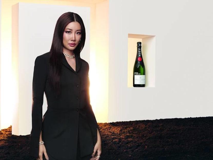 Why did Moet & Chandon collaborate with Korean-American fashion designer Yoon Ahn?