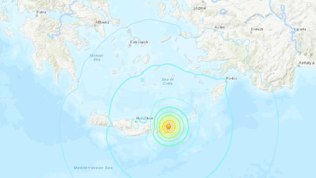 希腊克里特岛发生6.3级地震