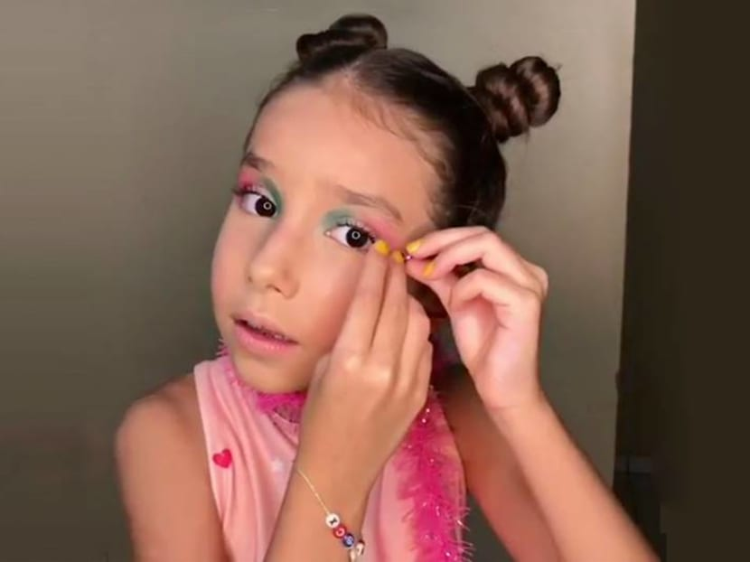 Letting your child use makeup, hair dye or nail polish might lead to skin and hair problems