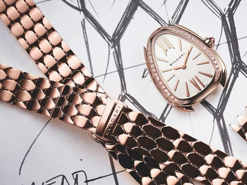 Scaled up: Bvlgari's latest Serpenti collection has a slinky new bracelet
