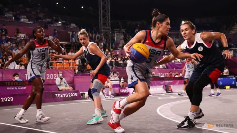 Olympics-Basketball 3x3-US women defeat ROC to claim first ever gold medal at Games