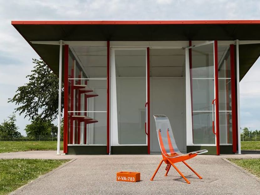 Virgil Abloh's installation with Vitra is a look into the future of furniture design
