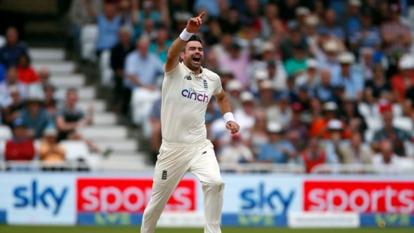 Cricket-Anderson drags England back into contest in wet Nottingham