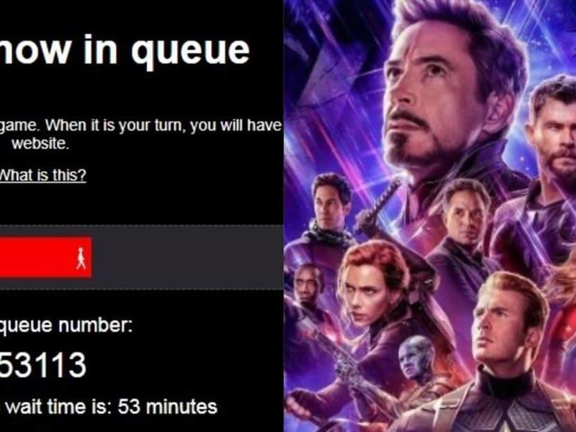 Avengers: Endgame ticket advance sales overwhelm Singapore cinema websites