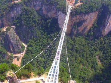 World's highest bungy jump: China tourists can now take a 260-metre leap from Zhangjiajie Grand Canyon Glass Bridge