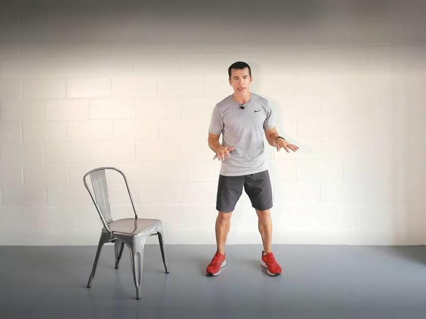 12 exercises in just 7 minutes – all you need is a chair and a wall