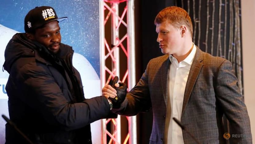 Gibraltar honours Whyte, Povetkin with special coin ahead of rematch