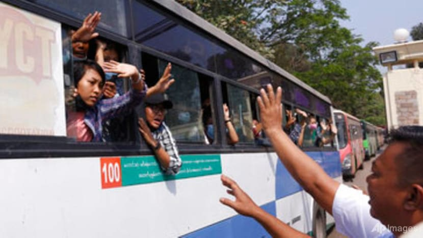 Myanmar frees 600 protesters detained at anti-coup rallies