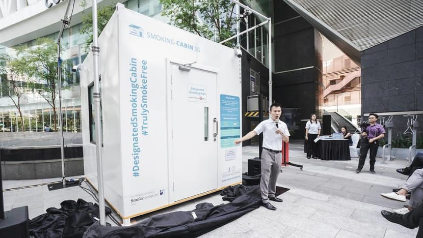 Smoking cabin that turns cigarette smoke into clean air launched in one-north