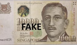 Man and 2 women arrested for using fake S$10,000 note