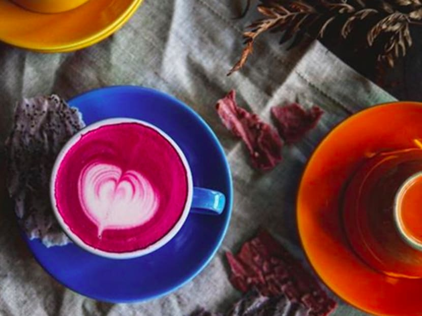 Ordinary lattes too boring? Where to get pink, blue and purple drinks in Singapore