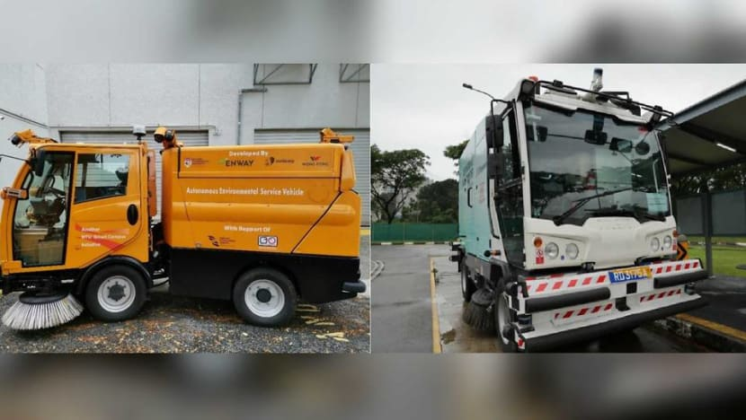 Self-driving road sweepers to go on trial at one-north, NTU and CleanTech Park in Jurong