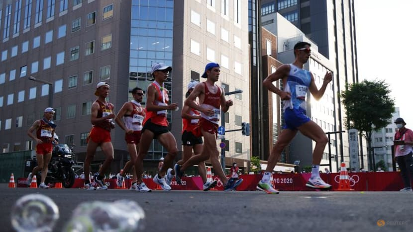Olympics-Athletics-Italy's Stano wins 20km race walk with late surge