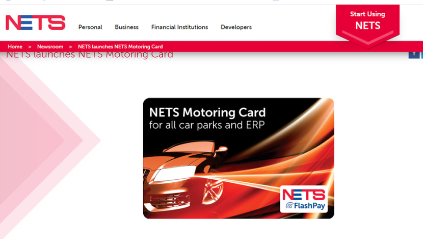 NETS introduces new NETS Motoring card, aims to 'eventually replace' CashCard