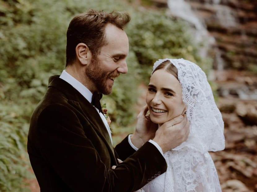 See photos of Emily In Paris star Lily Collins' 'magical' wedding