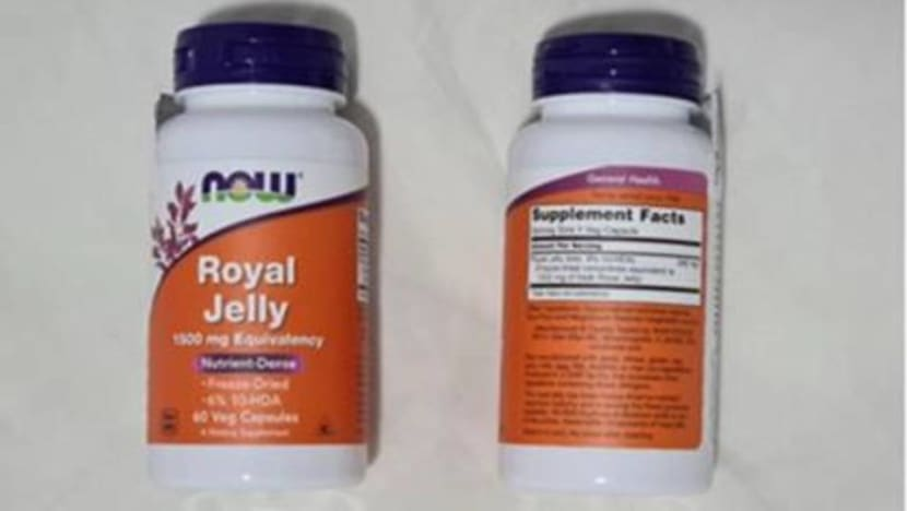 Batches of Now Foods' royal jelly capsules recalled over presence of banned antibiotic