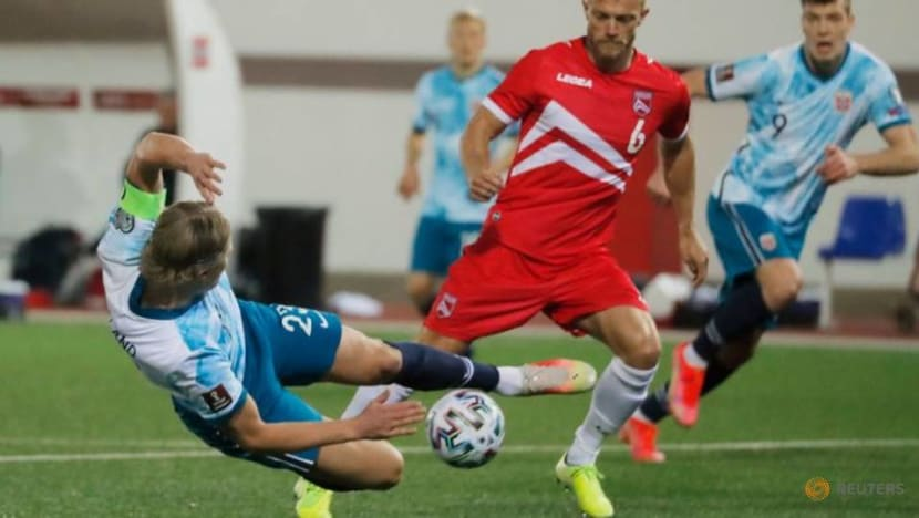 Norway players make Qatar protest in World Cup qualifier