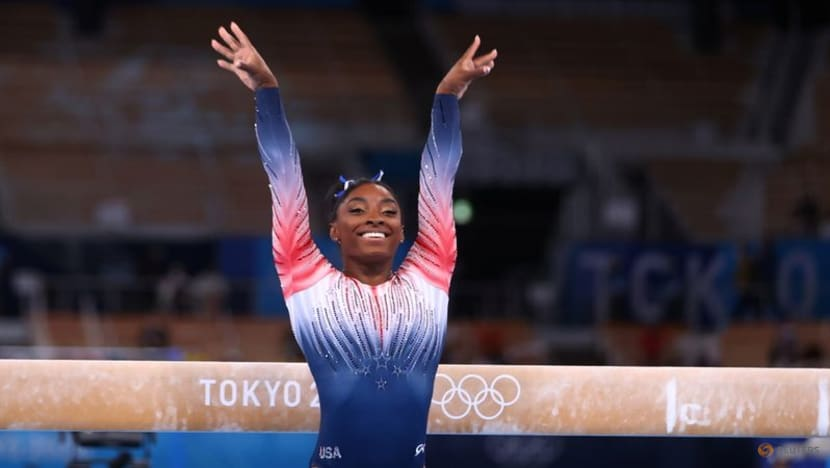 Olympics: Biles thanks Japanese gym that helped her regain her form